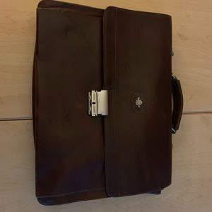 Bally's Diana VNTG briefcase brown leather